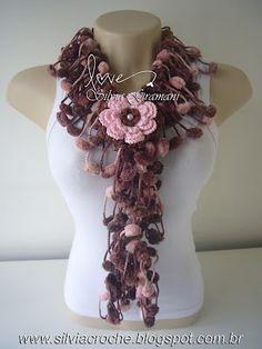 . Freeform Crochet, Knit Crochet, Crochet Hats, Southern Christmas, Floral Scarf, Felt Diy, Crochet Accessories, Crochet Scarves, Lace Knitting