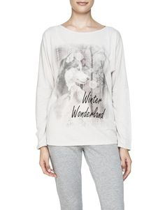 Wolf Print Sleep T-Shirt