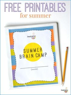 Summer Learning Activities!! FREE Printable for Kids from Imagination Soup -- this is exactly what I need!