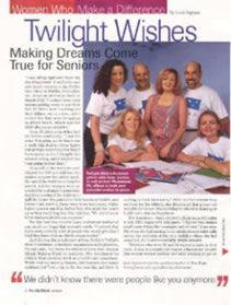 Twilight Wish Foundation in People Magazine (media relations by Furia Rubel) www.TwilightWish.org - grants wishes to seniors