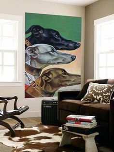 """""""Greyhounds,"""" March 29, 1941 Wall Mural by Paul Bransom at Art.com"""