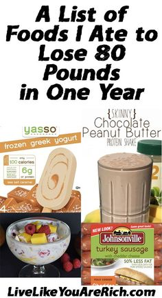 Foods I Ate to Lose 80 Pounds