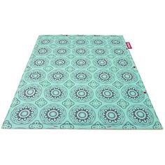 Fatboy Non Flying Carpet Casablanca Turquoise ($195) ❤ liked on Polyvore featuring home, rugs, kilim area rugs, patchwork rug, coloured rug, turquoise area rug and turquoise blue rug