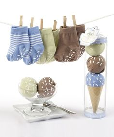 Another great find on #zulily! Blue Three Scoop Socks Set by Baby Aspen #zulilyfinds - Super cute gift idea!