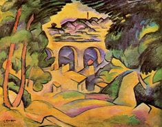 Viaduct at L'Estaque - Georges Braque - WikiArt.org