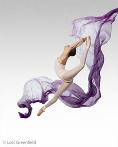 I love the purple material flying behind her! American Ballet Theatre. Photo: Lois Greenfield