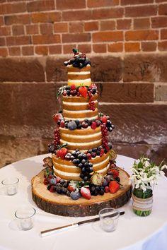 Pretty Pink and Purple Barn Wedding Ideas - Wedding Cake | CHWV