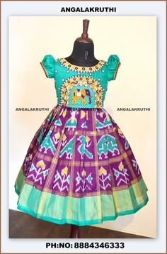 Angalakruthi-Custom designer boutique in Bangalore We. Kids Indian Wear, Kids Ethnic Wear, Baby Dress Design, Frock Design, Frocks For Babies, Baby Girl Dresses, Baby Outfits, Kids Blouse Designs, Minnie Dress