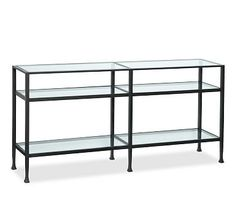 """Tanner Long Console Table $599. #potterybarn 65""""w x 12""""d x 30.5"""" h"""