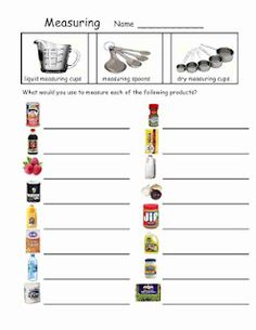 Worksheet Life Skills Math Worksheets free items recipies and culinary arts on pinterest life skills measuring dry liquid spoons katie schmeltzer lillard
