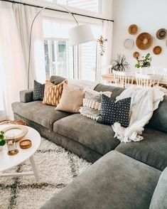 Cozy Cosy Living Room Lounge Room Sofa And Couch Inspo Neutral Home Style Inspir. - Cozy Cosy Living Room Lounge Room Sofa And Couch Inspo Neutral Home Style Inspiration Home Interior - Living Room Lounge, Boho Living Room, Cozy Living Rooms, Apartment Living, Home And Living, Living Room Decor, Modern Living, Decor Room, Small Living