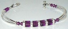 BestBuyBeads.com - The squaredelle bangle bracelet, shown here in amethyst, can be made in any color you like!