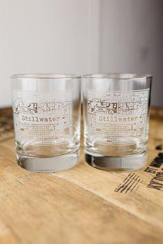 Stillwater College Town Rocks Glass Set