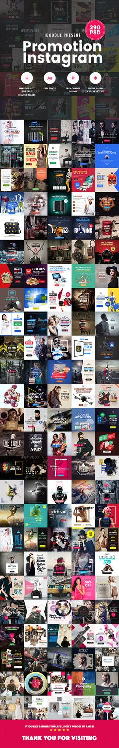 Bundle - Promotion Instagram Banners Ads Design Template - [05 Sets] 290 PSD - Miscellaneous Social Media Design Template PSD. Download here: https://graphicriver.net/item/bundle-promotion-instagram-banners-ads-05-sets-290-psd/19446533?ref=yinkira