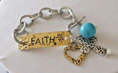 Cowgirl Bling FAITH GYPSY Arrow Native BRACELET Cross Hammered Turquoise Chain our prices are WAY BELOW RETAIL! all JEWELRY SHIPS FREE! www.baharanchwesternwear.com baha ranch western wear ebay seller id soloedition