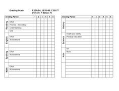 printable report card template