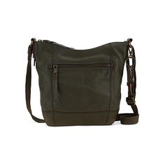 The Sak Sequoia Crossbody (130 CAD) ❤ liked on Polyvore featuring bags, handbags, shoulder bags, crossbody handbags, handbags & purses, olive, women's, the sak handbags, leather cross body purse and the sak purse