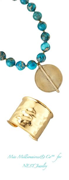 NEST Turquoise and Gold Jewelry