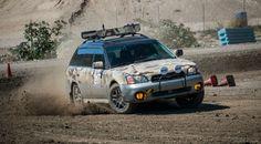 "2001 Subaru Outback Limited ""Apocalypse Wagon"" in Desert Camouflage."