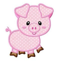 Pig Applique - 3 Sizes! | What's New | Machine Embroidery Designs | SWAKembroidery.com Fun Stitch
