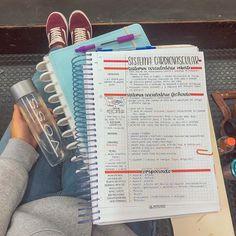 Study–Resumo – - School Look College Notes, School Notes, Study Organization, School Organization Notes, School Study Tips, Study Photos, Pretty Notes, Study Hard, Study Motivation