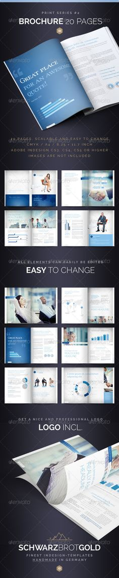 Brochure 20 Pages Series 2  #GraphicRiver        If you like this, watch out the other Items of this Series        Brochure 20 Pages Series 2 InDesign CS3 / CS4 / CS5  Hello! Thank you very much for purchasing this