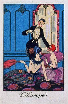 """L'Europe"" by George Barbier, 1920"