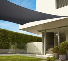 For stylish, effective and easy-to-install shade in your backyard you can't beat the Coolaroo Commercial Grade rectangle shade sail.  95% UV block combats the most extreme sun conditions. Simple to remove, if preferred, for the cooler months. Backyard Shade, Outdoor Shade, Backyard Patio, Backyard Landscaping, Backyard Furniture, Pergola Shade, Diy Pergola, Building A Pergola, Outdoor Pergola