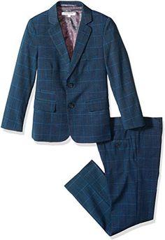 6pc Boy Wedding Oasis Malibu Teal Blue Formal Suit WHITE Necktie Set Sm-14