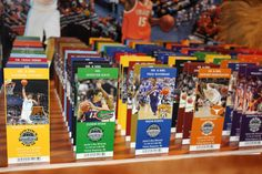 College Basketball Ticket Place Cards with Player Images