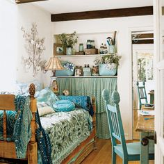 Shabby Chic Guest Room by one haute mess, via Flickr