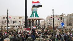 Syria's army has seized full control of the rebel bastion Yabrud, dealing the opposition a strategic blow in the Qalamoun region adjoining the Lebanese border. National Flag, Rebel, Presidents, Dolores Park, Army, Mountains, Palmyra, Gi Joe, Military