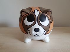 A cute hand painted piggy bank of a St. All banks are 5 inches along and come with a rubber cork so they are reusable and you can cherish them forever. Origami Easy, Origami Paper, San Bernardo, Bernard Dog, Wall Ornaments, Origami Design, Crafts To Do, Piggy Bank, Wood Art