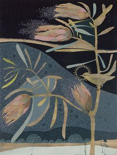 when it is dark enough you can see the stars (3) pale silvereye and pink ice protea. limited edition print