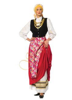 Traditional costume of Cephalonia island Ionian sea Greek Traditional Dress, Traditional Outfits, Dance Costumes, Greek Costumes, Greek Clothing, Folk Costume, Dance Dresses, Types Of Fashion Styles, The Originals