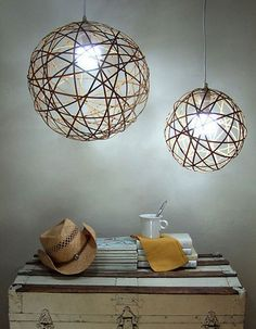 Make Orb Pendant Lamps from an Unusual Source — Crafty Nest