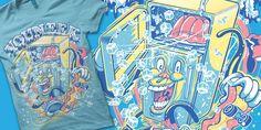 """YOUNEEK - Ice Box"" t-shirt design by chad manzo"