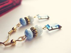 Midnight Whispers  Saphire Blue Earrings by Savi on Etsy, $32.00