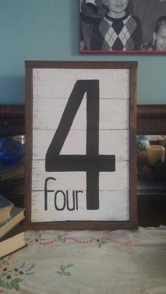 4 pallet sign 12x18