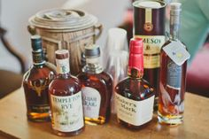 Whiskey decorations - various bottles