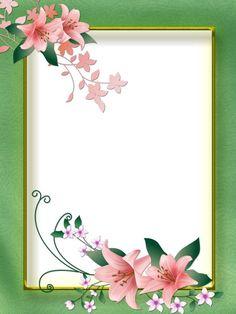 Boarder Designs, Frame Border Design, Page Borders Design, Flower Boarders, Flower Frame, Flower Border Clipart, Boarders And Frames, Printable Frames, Frame Background