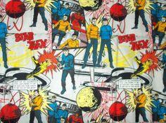 "Star Trek sewing fabric Classic Leonard Nimoy Science Fiction cotton 20"" long"