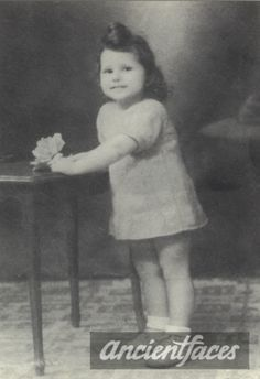 Let us never forget this precious toddler Raymonde Levy with her beautiful smile and holding a flower. Raymond was gassed in Auschwitz on Oct. 9, 1943.
