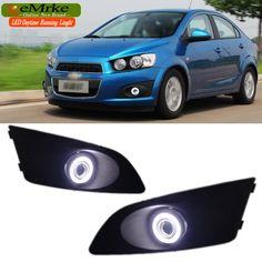 139.00$  Buy here - EEMRKE Car-styling FOR Chevrolet Aveo Sonic Holden Barina LED Angel Eyes DRL E13 Fog Lights H11 55W Daytime Running Lights  #magazineonlinewebsite