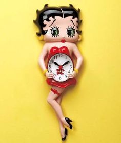 BETTY BOOP Licensed Character Animated Clocks
