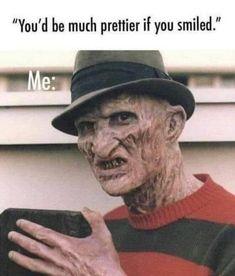 Funny Horror, Horror Films, Creepy Horror, Movie Memes, Funny Memes, Quiet Spray, Pretty Hate Machine, Scary Stories, Edgy Memes