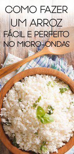 Receita de arroz muito fácil e gostoso no micro-ondas