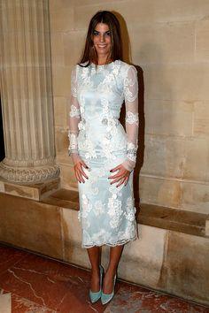 Bianca Brandolini, en un look de Dolce  Gabbana Alta Moda, en la Gala de caridad Liaisons Au Louvre III, el 18 de junio del 203en París.