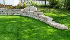 Jura Marmor Trockenmauer und Travertin Terrasse