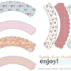 Whimsical Cupcake Liner